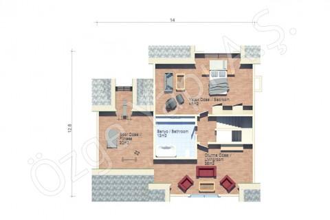 Amerikan Mimarisi Villa - Çatı Katı