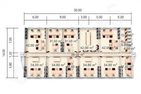 BKO 840 m2 - 1. Kat