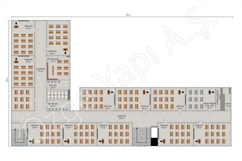 İlkokul 2388 m2 - 1. ve 2. Kat