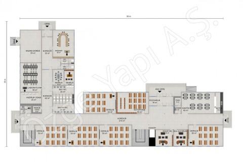 İlkokul 2388 m2 - Zemin Kat