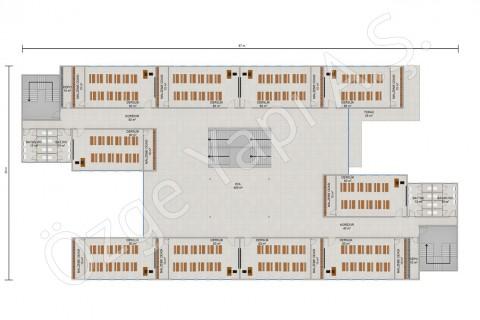 İlkokul 3036 m2 - 1. ve 2. Kat