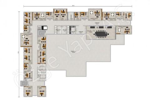 Ofis 3492 m2 - 1. Kat