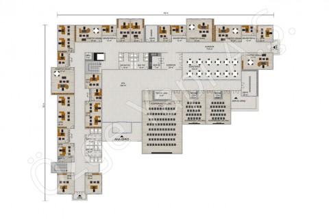 Ofis 3492 m2 - Zemin Kat