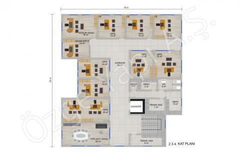 Ofis 697 m2 - 2. 3. ve 4. Kat
