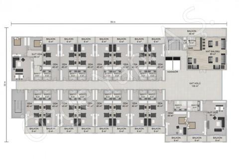 Otel 8115 m2 - 1. ve 2. Kat