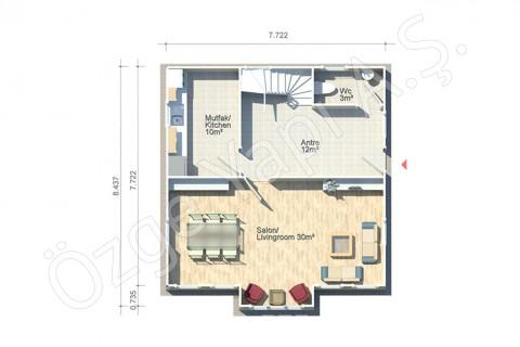Anemon 128 m2 - Zemin Kat