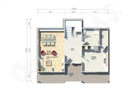 Fulden 154 m2 - Zemin Kat