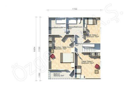 Margarit 140 m2 - 1. Kat